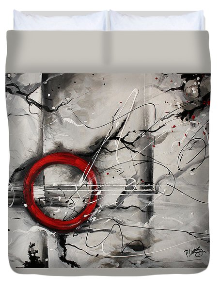 Duvet Cover featuring the painting The Power From Within by Patricia Lintner