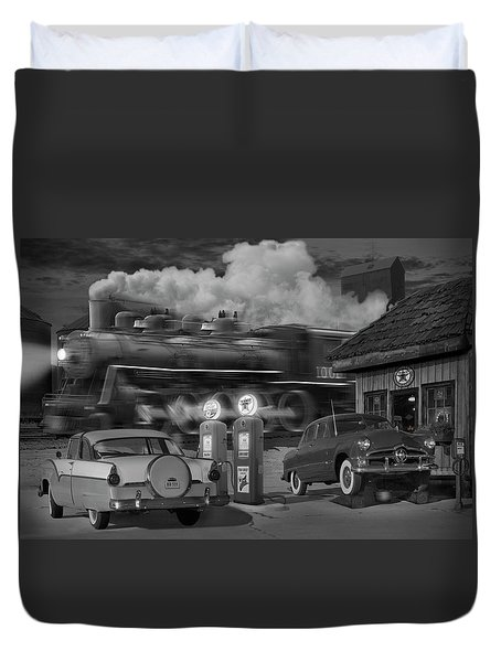 The Pumps Duvet Cover by Mike McGlothlen