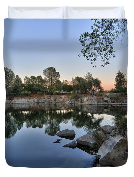 Duvet Cover featuring the photograph The Quinn Quarry by Jim Thompson