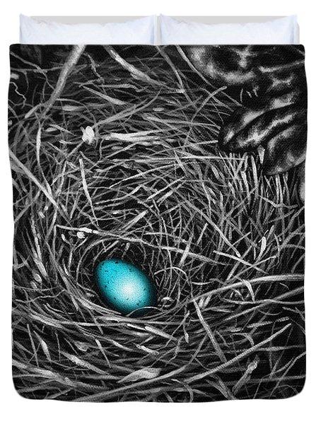 The Robin's Egg Duvet Cover by Craig T Burgwardt