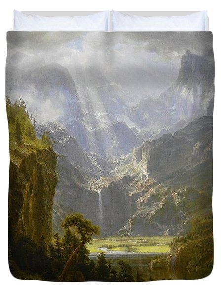 The Rocky Mountains Lander's Peak Duvet Cover