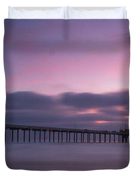 The Scripps Pier Duvet Cover