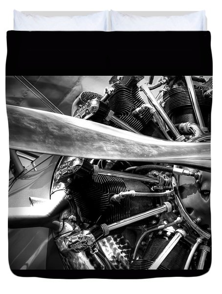 The Stearman Jacobs Aircraft Engine Duvet Cover by David Patterson
