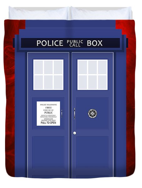 The Tardis Duvet Cover