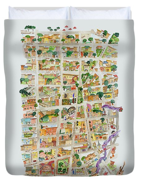 The Way West Village Duvet Cover