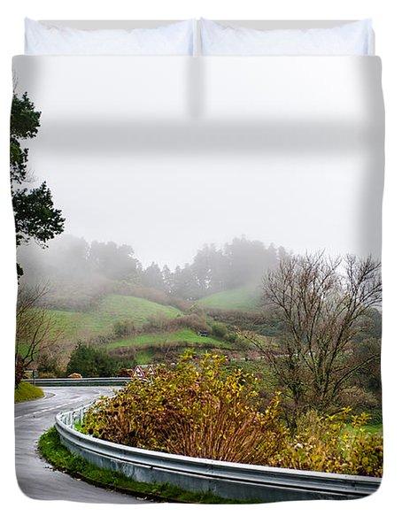 The Winding Road Duvet Cover
