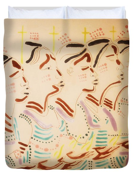 The Wise Virgins Duvet Cover by Gloria Ssali