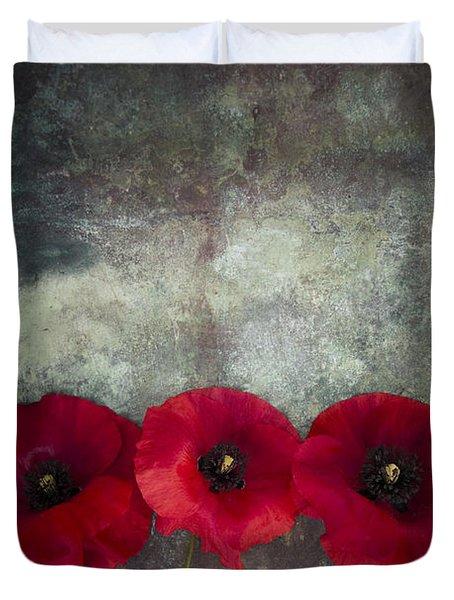 Three Poppies Duvet Cover
