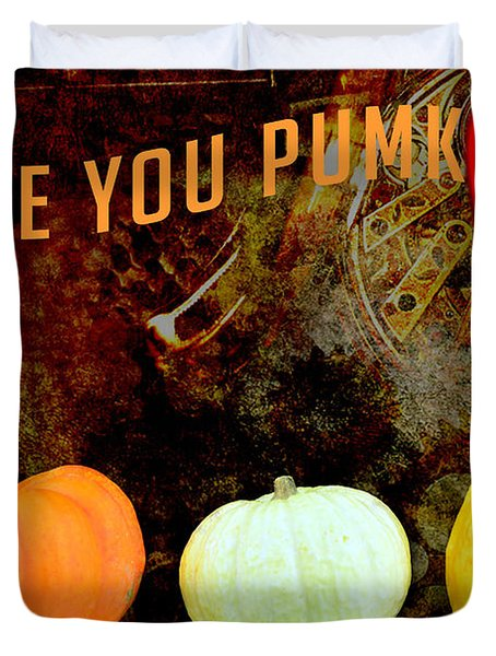 Three Small Pumpkins Duvet Cover by Tommytechno Sweden