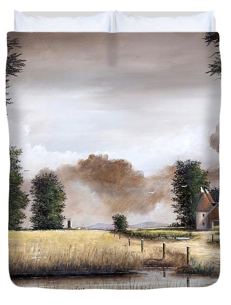 Through The Cornfield Duvet Cover
