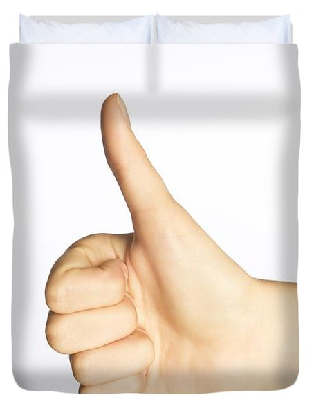 Thumbs Up Duvet Cover by Alan Marsh