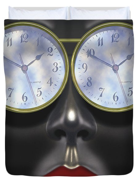 Time In Your Eyes Duvet Cover by Mike McGlothlen