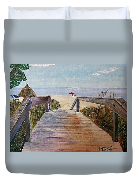 To The Beach Duvet Cover