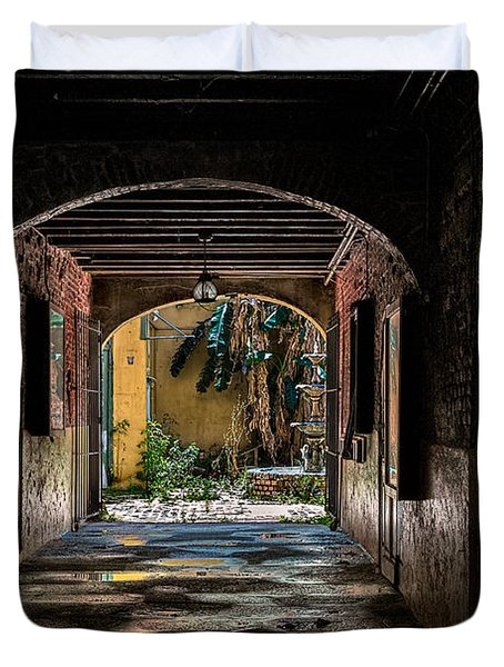 To The Courtyard Duvet Cover by Christopher Holmes