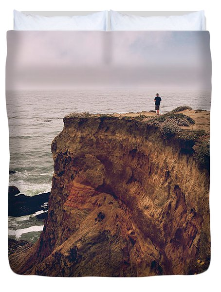 The Edge Of The Earth Duvet Cover