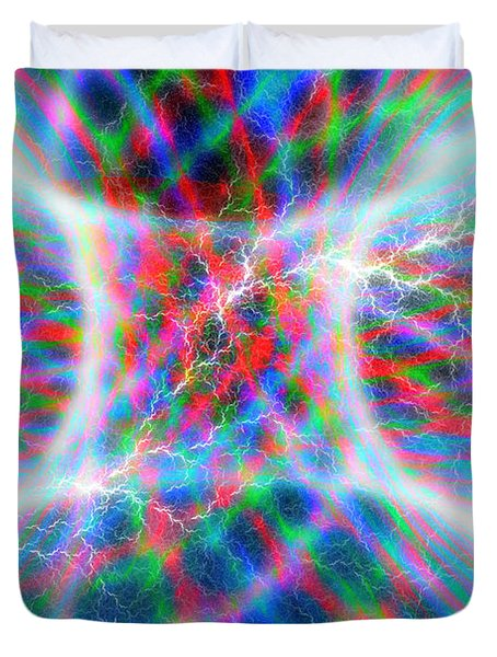 Torus Abstract Duvet Cover by Carol and Mike Werner