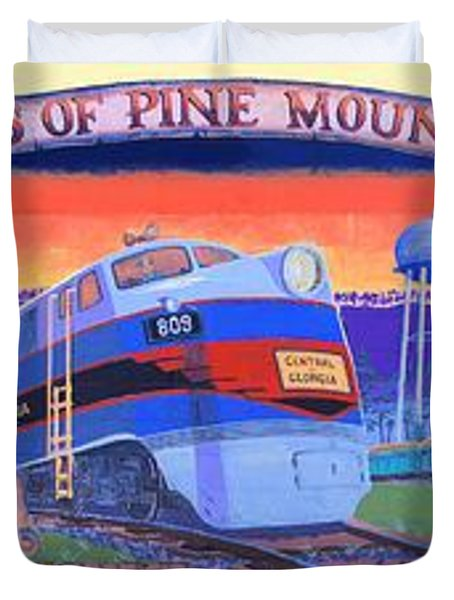 Trains Of Pine Mountain Duvet Cover