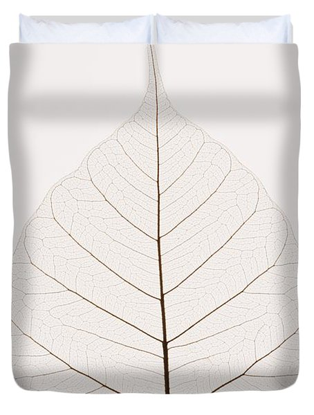 Transparent Leaf Duvet Cover by Kelly Redinger