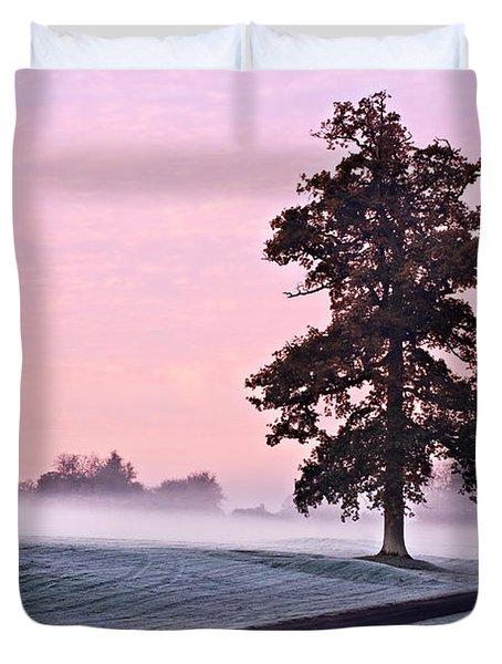 Tree At Dawn / Maynooth Duvet Cover