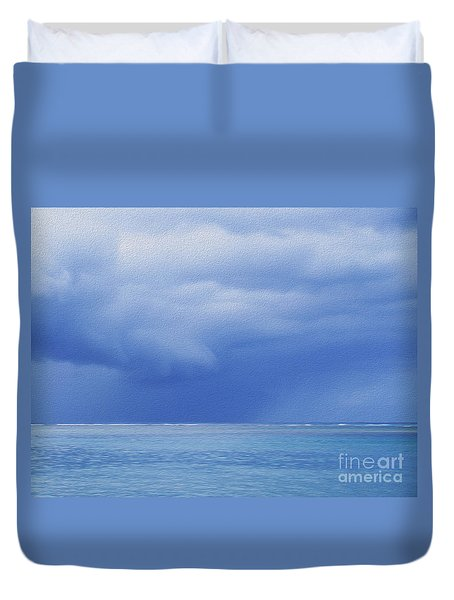 Tropical Storm Duvet Cover by Roselynne Broussard