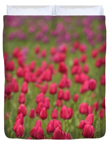 Tulip Beds Forever Duvet Cover