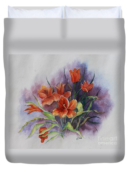 Tulips Duvet Cover by Janet Felts
