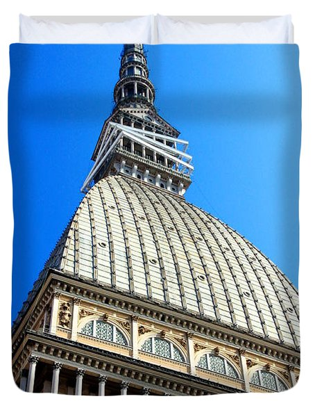 Turin Mole Antonelliana Duvet Cover by Valentino Visentini