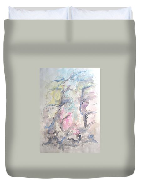 Two Trees In The Wind Duvet Cover