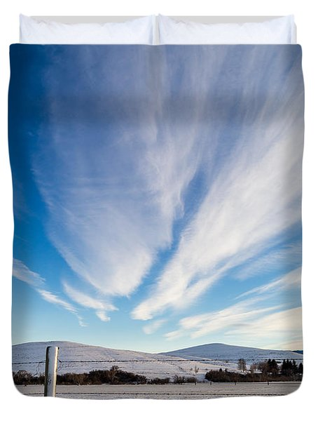 Under Wyoming Skies Duvet Cover