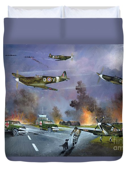 Up For The Chase Duvet Cover