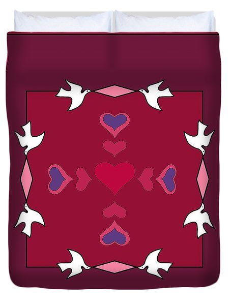 Duvet Cover featuring the photograph Valentine Medley by I'ina Van Lawick