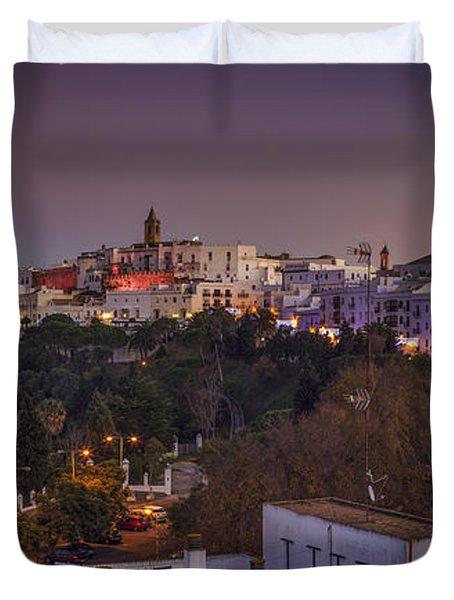 Vejer De La Frontera Panorama Cadiz Spain Duvet Cover