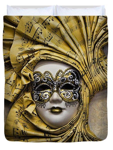 Venetian Carnaval Mask Duvet Cover