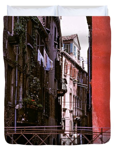 Duvet Cover featuring the photograph Venice by Ira Shander