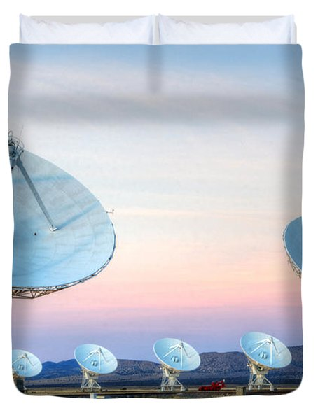 Very Large Array Of Radio Telescopes  Duvet Cover by Bob Christopher