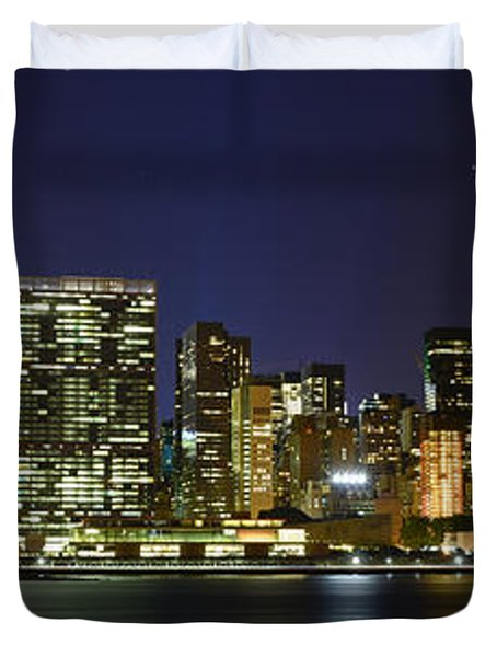 View From Gantry Plaza State Park Duvet Cover by Theodore Jones