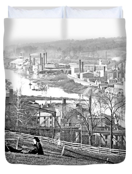 View Of Conshohocken Pennsylvania C 1900 Duvet Cover