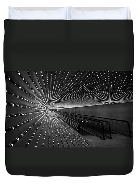 Duvet Cover featuring the photograph Villareal's Multiuniverse by Cora Wandel