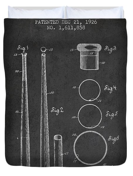 Vintage Baseball Bat Patent From 1926 Duvet Cover by Aged Pixel