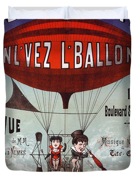 Vintage French Circus Poster Duvet Cover