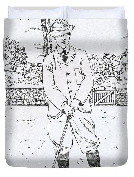 Vintage Golfer Duvet Cover