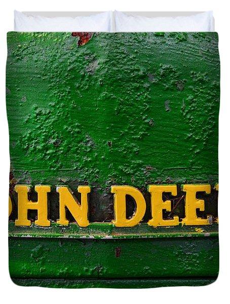 Vintage John Deere Tractor Duvet Cover