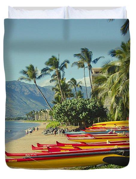 Kenolio Beach Sugar Beach Kihei Maui Hawaii  Duvet Cover