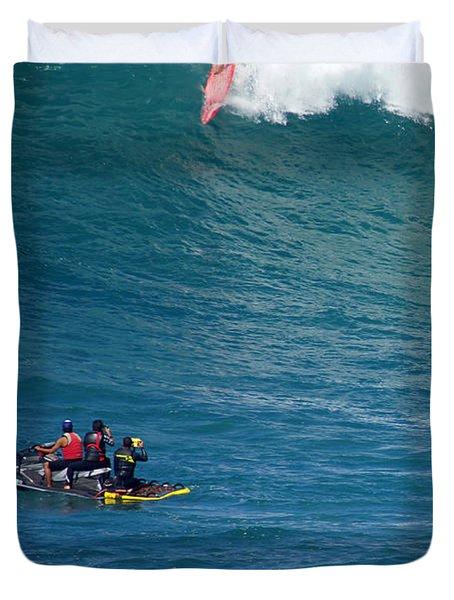 Waimea Bay Takeoff Duvet Cover