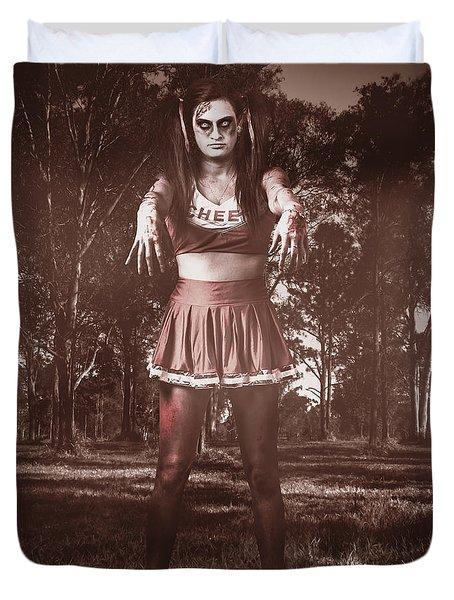 Walking Dead Schoolgirl Stumbling Back To School Duvet Cover