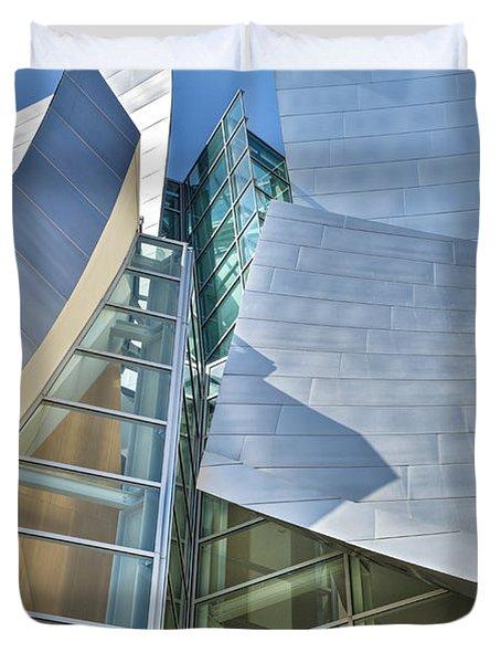 Walt Disney Concert Hall Vertical Los Angeles Ca Duvet Cover by David Zanzinger