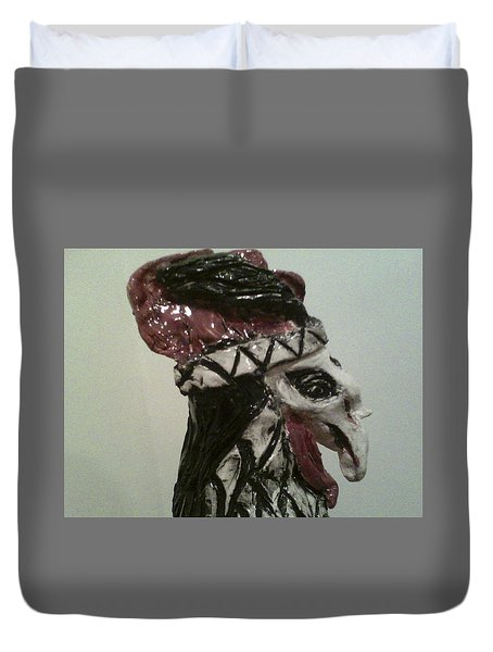 Warrior Rooster Duvet Cover by Suzanne Berthier