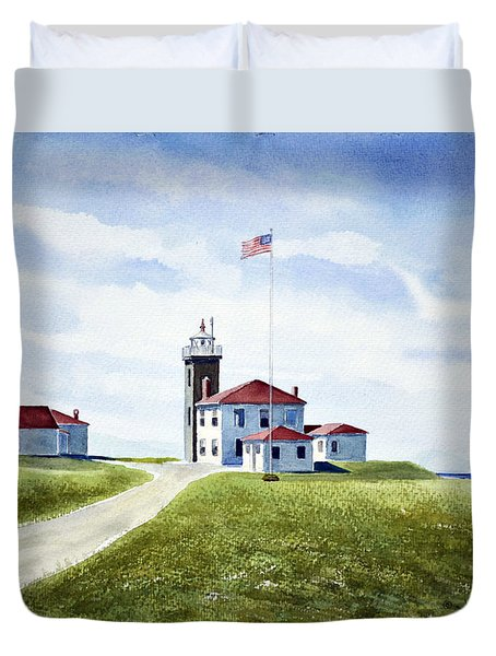 Watch Hill Ri Lighthouse Duvet Cover