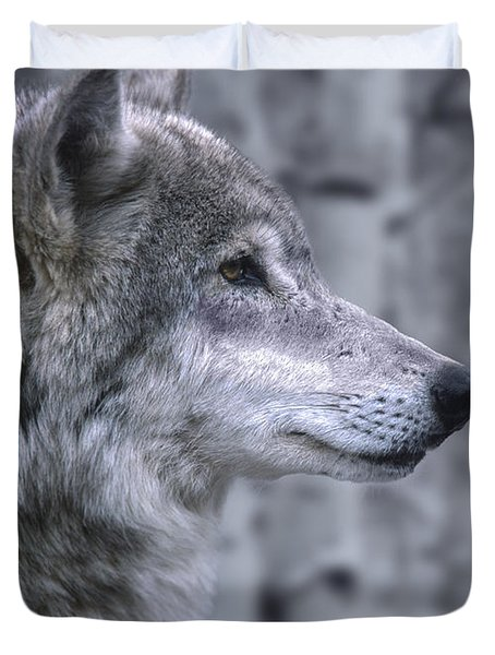 Watching And Waiting Duvet Cover by Sandra Bronstein