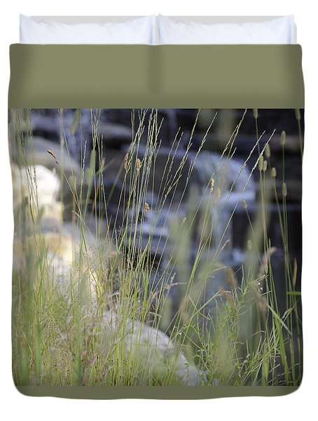 Duvet Cover featuring the photograph Water Is Life 2 by Teo SITCHET-KANDA